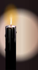 Black Burning Candle