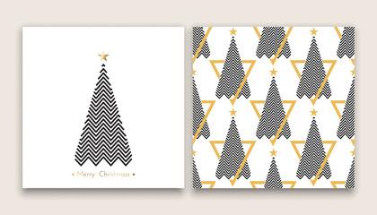 christmas tree in line art 03