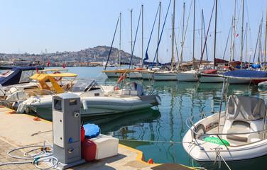 Kusadasi on the Aegean Sea in Turkey -  Kusadasi is a major tourist center with modern yacht port