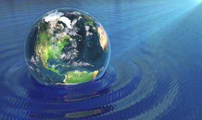 our earth in water