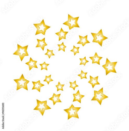 weihnachten weihnachtszeit goldene sterne sternschnuppe silvester sterne im kreis. Black Bedroom Furniture Sets. Home Design Ideas