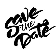 'Save the date' phrase for wedding inviration cards
