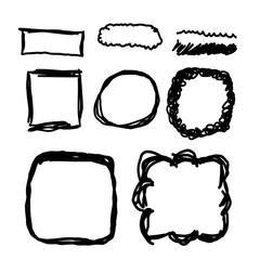 Hand drawn frames, lines and circle collection