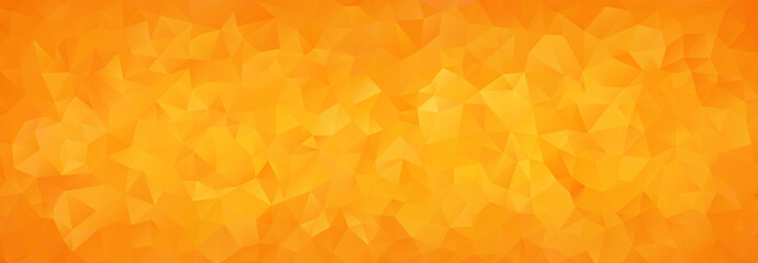 abstract mosaic background of orange gradient triangles Fotomurales
