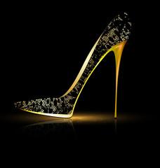 lace black shoe