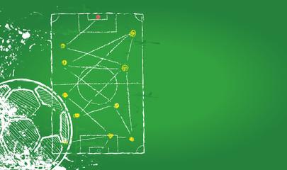 Soccer o. Football design template,free copy space, vector