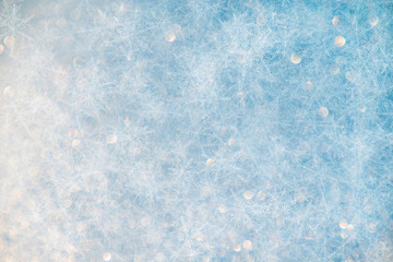 Blue cracked cold ice abstract background for christmas and winter - stock photo