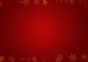 Red sparkle snow christmas background - stock photo