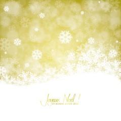 Carte de vœux avec flocons - Version dorée