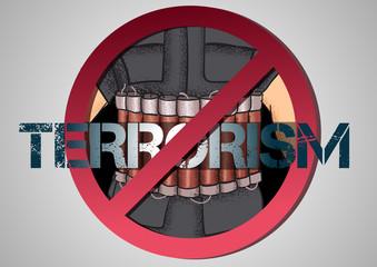 poster against terrorism