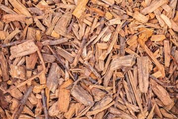 Wood chips for garden landscaping