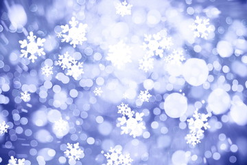 Winter Holiday Snow Background. Christmas Abstract