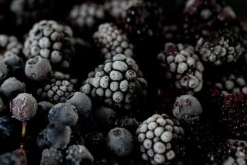 frozen blueberries and blackberries