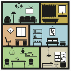 interior furniture icons