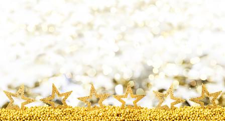 weihnachtskarte golden stars