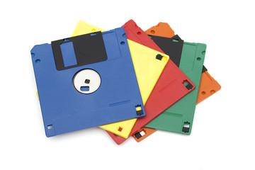 floppy disk on the white background