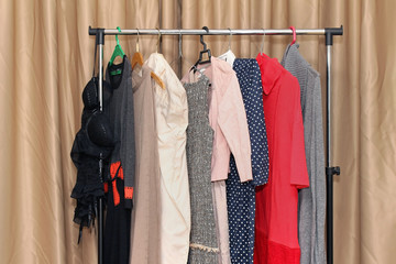Female clothes rack