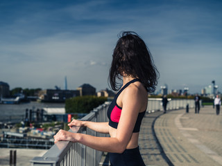 Fit young woman in city