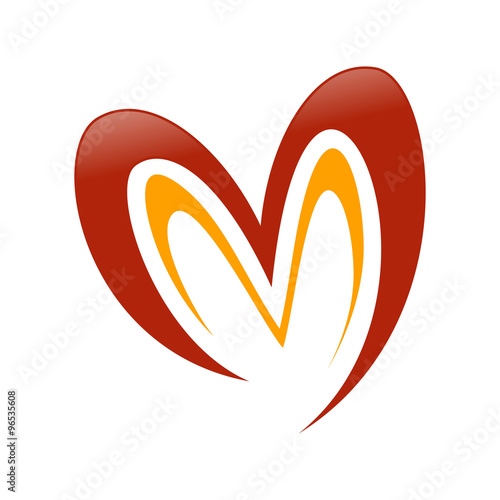 Love M Shape Abstract