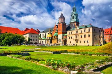 Autocollant pour porte Cracovie The historic castle in Krakow. Poland