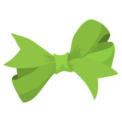 Cartoon bow green sign