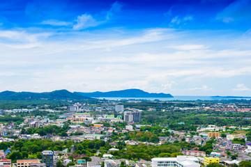 Phuket Town top view from Rang Hill