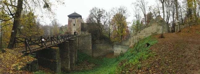 Lukov ruins in Hostynske vrchy hills near town Zlin