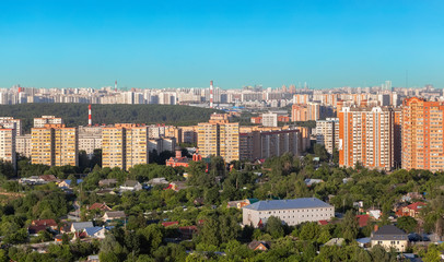 View to the city of Krasnogorsk, Russia.