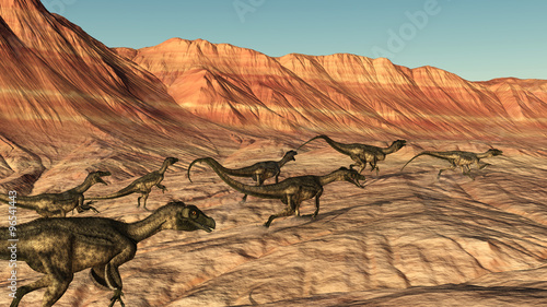 Ornitholestes Dinosaurs on Desert Run