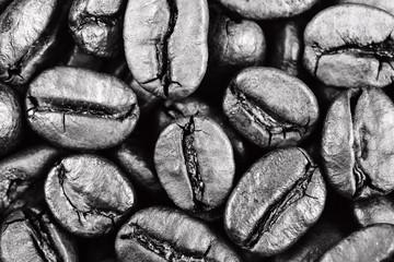 Coffee roasted  background closeup, dramatic light