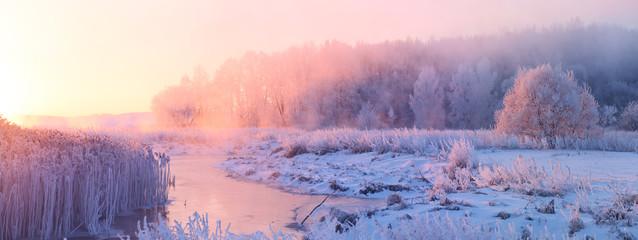 Poster Campagne Winter sunrise