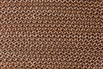 Corrugate paper filter