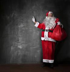 Pointing Santa Claus