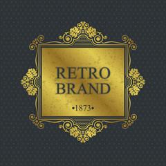 Retro Brand Monogram design elements, Calligraphic graceful template, Elegant line art logo, Business sign for Royalty, Boutique, Cafe, Hotel, Heraldic, Jewelry, Wine