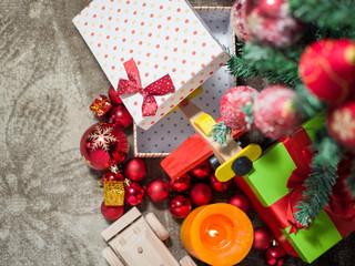 gift boxes under Christmas tree, Christmastime surprises, New Ye
