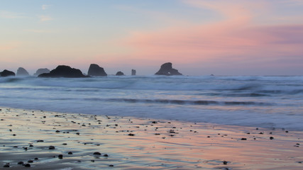Sunrise at Indian Beach, Oregon