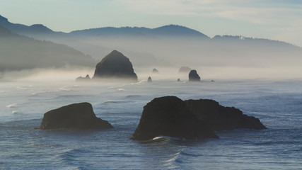 Sunrise over Cannon Beach, Oregon