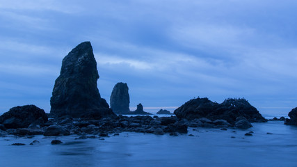 Dusk at Cannon Beach, Oregon