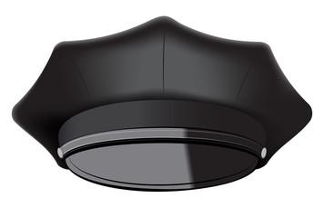 Black Police Cap