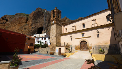 Plaza Mayor - main square of Los Fayos