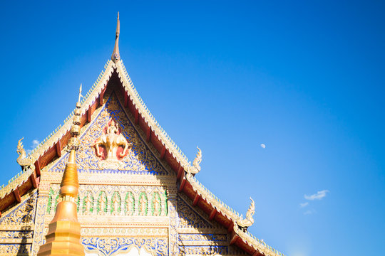 Sri Don Chai temple is tourist attraction of Chiang Khong, Chian