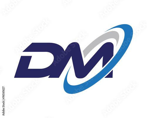 """dm letter swoosh media logo"" stock image and royaltyfree"