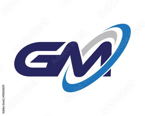 gm letter swoosh media logo stock image and royalty free vector rh fotolia com gm canada logo vector gm vector logo download