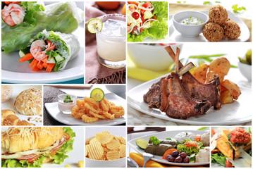 European Dish buffet, close up