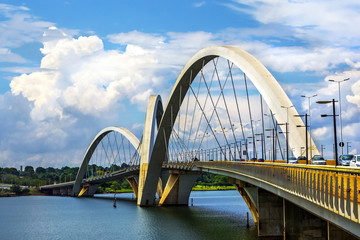 JK Bridge in Brasilia, capital of Brazil.