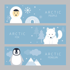 Arctic Banner, People, Fox and Penguin, Winter, Nature Travel and Wildlife