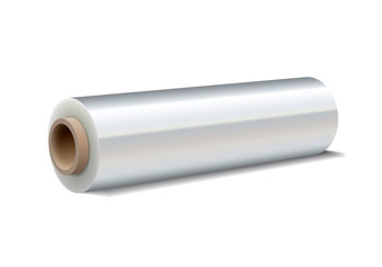 Roll of wrapping plastic stretch film