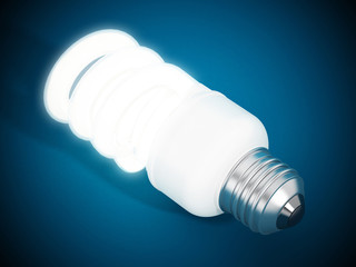 Fluorescent energy saving lightbulb