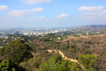 View of Los Angeles from the hill, USA