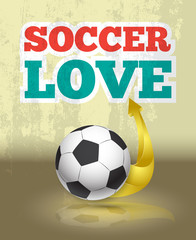 Love soccer template suitable for posters
